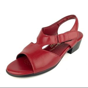 SAS Women's Tripad Cherry Red Leather Sandals